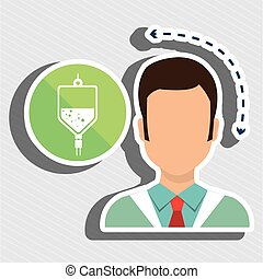 doctor heath service vector illustration eps 10