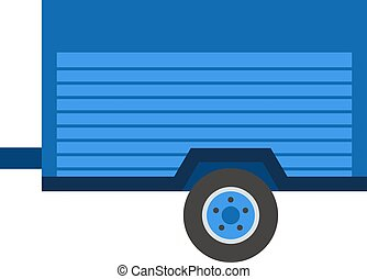 Car trailer vector illustration. - Empty car trailer...