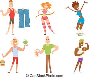 Beauty fitness people weight loss