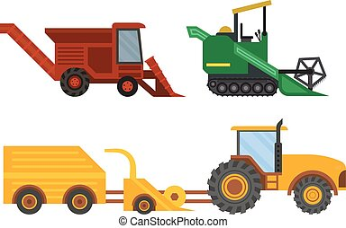 Equipment farm for agriculture machinery harvester -...