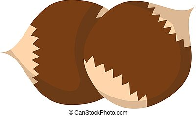 Pile of nuts vector illustration. - Heap from various kinds...