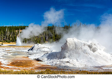 Grotto Geyser View - View of Grotto Geyser in the Upper...