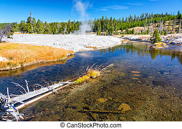Firehole River in Yellowstone National Park - Firehole River...