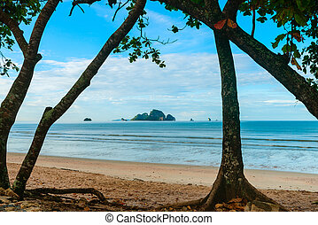 Island off Ao Nang beach Krabi, Thailand - Beautiful clean...