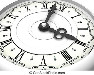 Clock Three oclock 3d