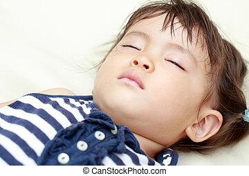 Sleeping Japanese girl (1 year old)