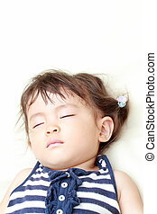 Sleeping Japanese girl (1 year old)