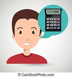 man tax payment report vector illustration eps 10