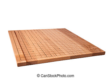 Desk for board game Go - Empty wooden desk for traditional...