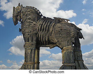 Trojan Horse in Canakkale Square,Turkey