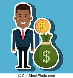 man bag money currency vector illustration eps 10