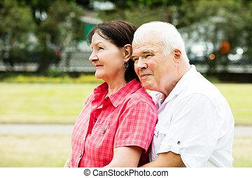 年長者, 特寫鏡頭, 夫婦