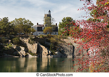 Halibut Point State Park - Looking across the quarry to the...