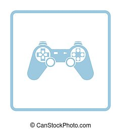 Gamepad  icon. Blue frame design. Vector illustration.