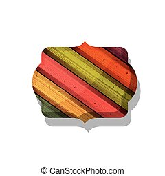 Wood and striped multicolored frame design