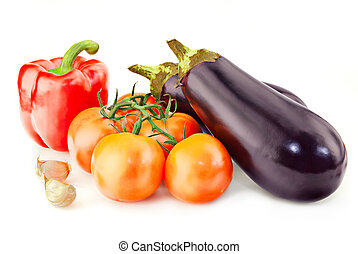Fresh vitamin background with aubergine - Fresh vitamin...