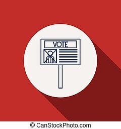 Card paper of vote concept - Card paper icon. Vote election...