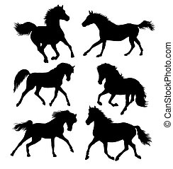 Horse Set Silhouettes