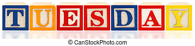 Alphabet Blocks Tuesday - Colorful alphabet blocks spelling...