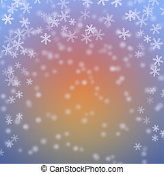 Snow flakes Abstract winter background
