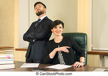 business partners in the office