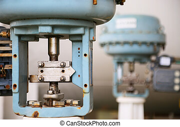 Pressure control valve in oil and gas process and controlled...