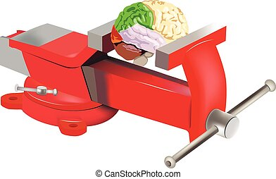 Table vise with brain - bitten by red turntable holds a...