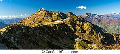 Autumn mountain landscape, Krasnaya Polyana, Sochi -...