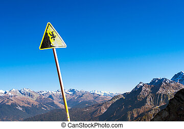 Sign - danger of falling down, Sochi