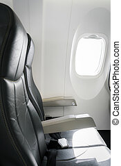 Airplane seats in the cabin - Airplane seats in the cabin