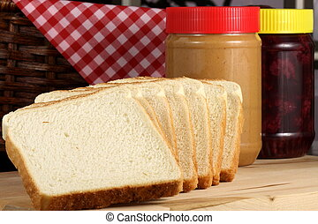 delicious peanut butter and jelly sandwich ingrdients -...
