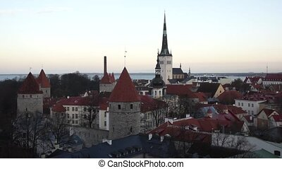 old city panorama of Tallinn, Estonia