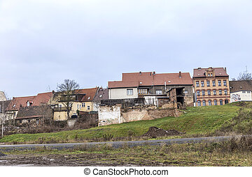 panoramic view to buildings in Eisleben