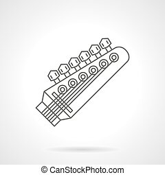 Headstock flat line vector icon - Symbol of headstock with...