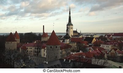 old city panorama of Tallinn, Estonia - Tallinn, Estonia old...
