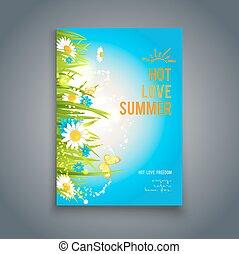 Blue summer template