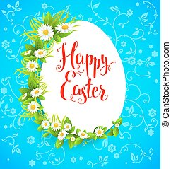 Easter flowers - Easter bright card with flowers. Background...