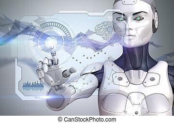 機器人, 數据, 工作