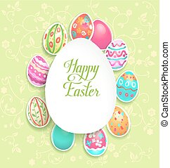 Spring easter holiday with eggs for design card,...