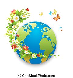 Love my planet - Love planet green eco card Concept for...