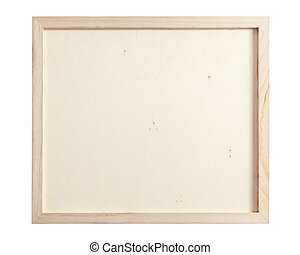 Wood frame isolated on white background