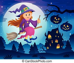 Cute witch theme