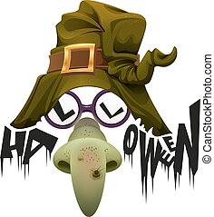 Witchs hat, green nose and glasses accessory for Halloween...