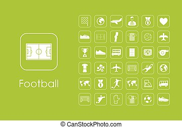 Set of football simple icons - It is a set of football...