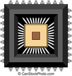 electronic chip microchip - illustration for the web