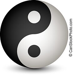Yin Yang sphere symbol - illustration for the web