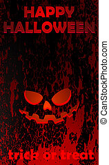 halloween card 001rad - halloween greeting card, vector...