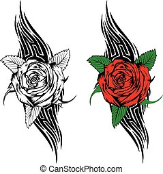 rose with tribal