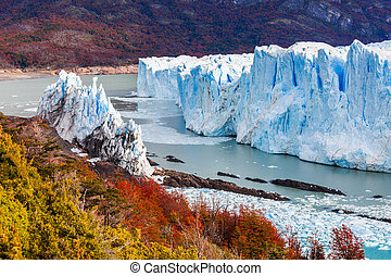 The Perito Moreno Glacier is a glacier located in the Los...