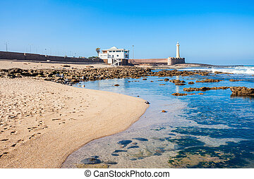 Lighthouse in Rabat Phare de Rabat in Morocco Lighthouse is...
